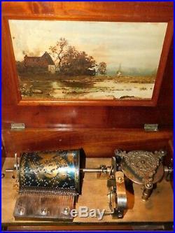 Antique RARE Capital Cuff Music Box Patriotic Eagle Mechanical Regina Criterion
