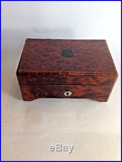 Antique RARE MUSIC BOX 4 AIRS C1880 Walnut Veneered Case