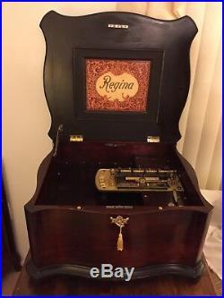 Antique Regina 15 5 Double Comb Disc Music Box 1890s