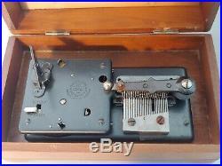 Antique Regina Music Box 1896 Thorens Switzerland AD30 READ