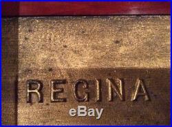 Antique Regina Music Box Double Combs with 26 discs