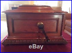 Antique Regina Music Box Double Combs with 27 discs