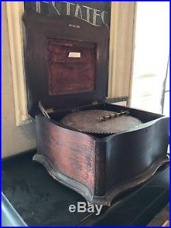 Antique Regina Music Box With 30 Discs