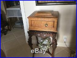 Antique Regina Oak Music Boxwith Discs Totally Refurbished