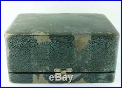 Antique Silver Guilloche Enamel Diamond Singing Bird Box Automaton, Germany