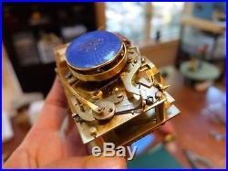 Antique Silver Guilloche & Enamel Singing Bird Box Automaton (watch Video)