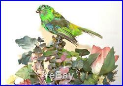 Antique Singing Bird In Jardiniere Music Box Automaton