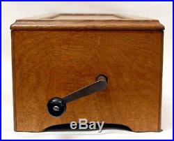 Antique Swiss 13 1/4 Cylinder 12 Tune Music Box, Oak Case- Nice From Estate