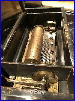 Antique Swiss Crank Cylinder Music Box- Large