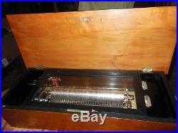 Antique Swiss Cylinder Music Box