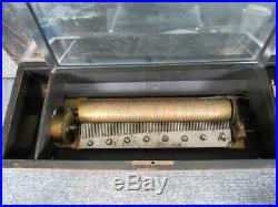 Antique Swiss Cylinder Music Box, Working Condition, Plays Well