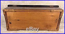 Antique Swiss Music Box Inlaid Case Runs But Needs Work No Tune Card
