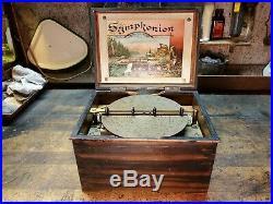 Antique Symphonion 7 1/2 Disc Music Box Restoration Project Plays Nice Fixer Up