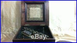 Antique Symphonion Music Box With 5 Discs Circa 1880's