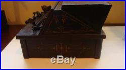 Antique The Gem Roller Organ Pat. May 31st 1887 +2 Cobs New Bellows & 1 Pad