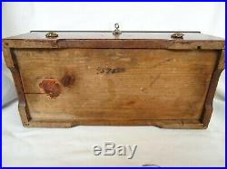 Antique Wooden Cyllinder Large Size Music Box 6 Melodies 19th century