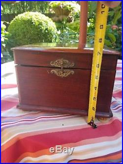 Antique Working 7 Disc Playing Music Box 1880's Swiss Negro Interest