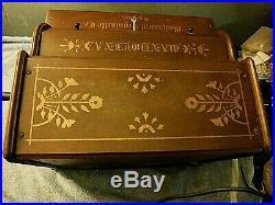 Antique mandolinda roller organ mechanical organette co. Near mint xtra rolls