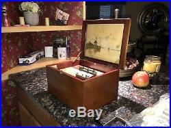 BEAUTIFUL ORIGINAL 8 REGINA MUSIC BOX With 10 DISCS