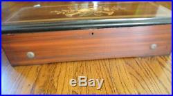 Big 22 Rectangular Cylinder Inlaid Music Box