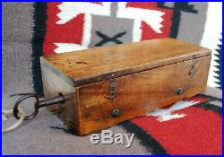C. 1830 L. Lecoultre Preserved Music Box Early Fruitwood 80Teeth Comb Intact
