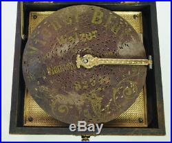 CHARMING POLYPHON DISC MUSIC BOX 16,5 cm You can hear me play