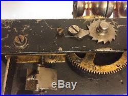 Ca. 1900 antique Kalliope disc music box with 4 bells ten 7-inch discs