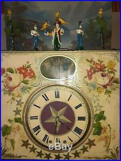 Circa 1850 Johanm Reiterback Organ Clock 50+ Pipes With Animated Figures