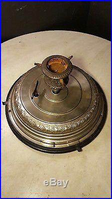 Circa 1890 Antique Music Box Christmas Tree Stand Automated