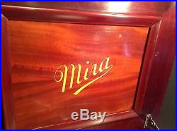 Circa 1900 Antique Mahogany Mira 12 Music Box with 2 Discs Best Ever Heard