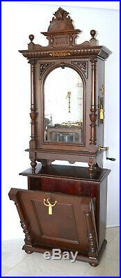 Coin-op Polyphon With Bells 22 Disk Music Box & Base Cabinet