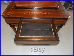 Ducommun Geneve 14 Interchangeable Cylinder Music Box Marquetry Inlaid Case