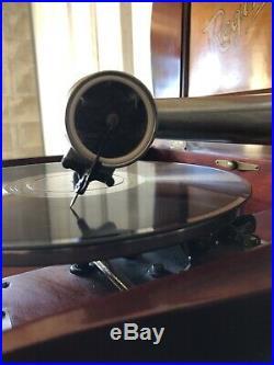 EXQUISITE REGINAPHONE MUSIC BOX & PHONOGRAPH With RECORD & DISC HOLDER