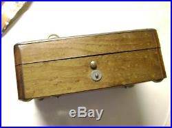 Early Small 3 Air Cylinder Music Box Swiss Antique with 63 notes, ex