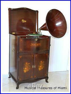 Fabulous Mira Miraphone Music Box & Phonograph