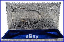 Fred Zimbalist Thorens Resting Violin Silver Music Box -Rare