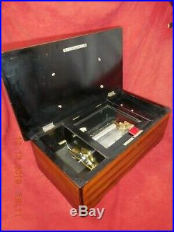 Fully Restored Antique 19th Century Swiss Cylinder Cartel Music Box (see Video)