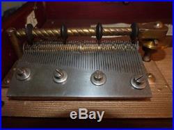 GORGEOUS 1897 MAHOGANY REGINA MUSIC BOX VERY GOOD CONDITION WithDISCS