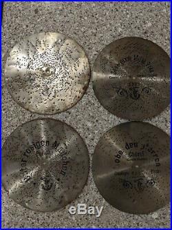 German Symphonion (Polyphon) Antique Punched Music Discs 11, 28cm Lot of 4