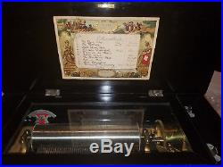 LARGE and BEAUTIFUL Antique 19th Century Music Box 10 Airs Working Nicely