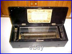 Large Antique Swiss Cylinder Music Box Needs Work To Restore