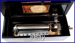 Large Mermod Freres music box with 10 tunes. Switzerland circa 1890