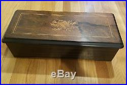 Large rare American 10 song cylinder music box, very ornate Art Deco look