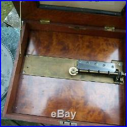 Late 1800s German Polyphon Disc Music Box with 9 Discs 15 1/2