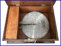 Late 19th Century Austrian Kalliope Disc Music Box with (18) 17.75 discs