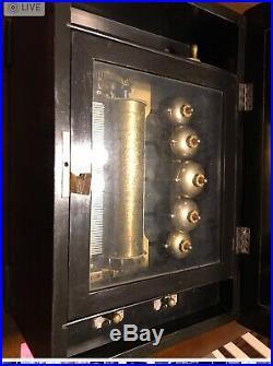 Late 19th Century Swiss Antique Music Box Marque De Fabrique 6 Airs