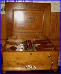 Libellion Book Operated Music Box Regina Polyphon Coin Operated Slot Machine