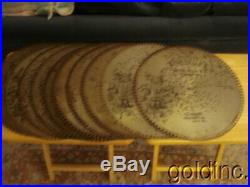 Lot Of 10 Antique Rigina 15 1/2 Music Box Discs Maryland My Maryland Song N/R