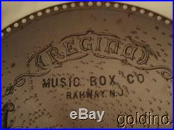 Lot Of 10 Antique Rigina 15 1/2 Music Box Discs Onward Christian Soldiers N/R