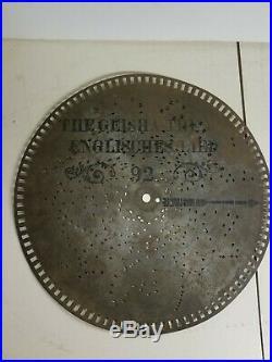 Lot Of 12 Vintage Music Box Metal Discs Regina Stella Britannia Harmonica